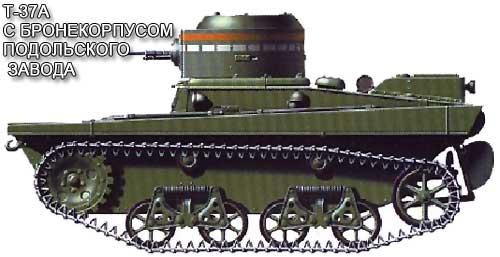 танк с бронекорпусом Подольского завода